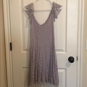 Urban Outfitters Lace Ruffle Dress